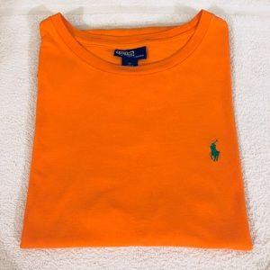 Polo Ralph Lauren Solid Orange T-Shirt size M